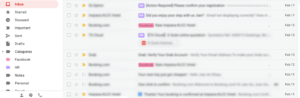You are able to check the mails in a more inituitive way