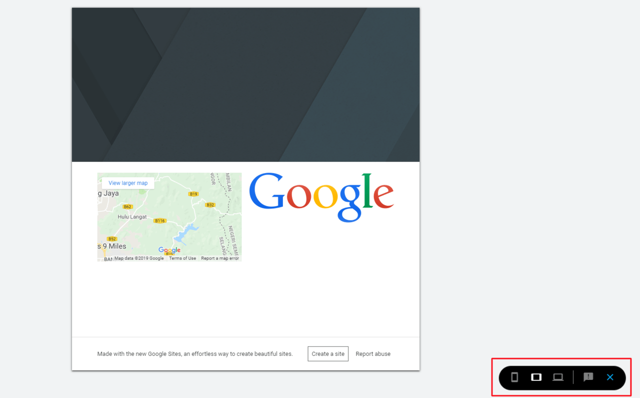 Preview the Google Sites Website
