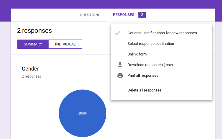 Get email notification for Google Forms Questionnaire filled forms.