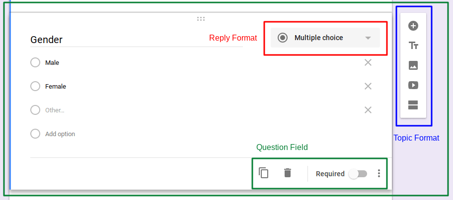 Select the multiple choice options in Google Forms Questionnaire.