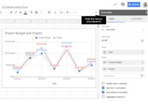 How to insert chart in Google Sheets