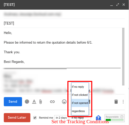 Check the response status of the schedule Gmail messages