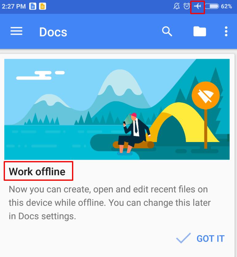 Google Docs Apps Offline