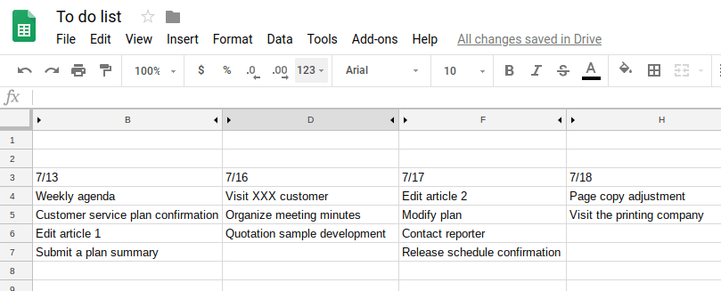 Create the column in the Google Sheets