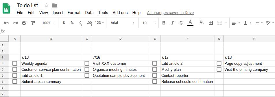 Checkbox added to the checklist.