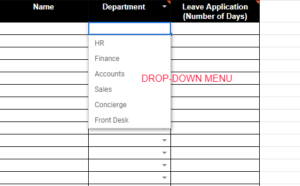 Google Sheets Dropdown List