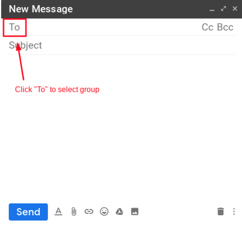 Compose the group emails in Gmail.