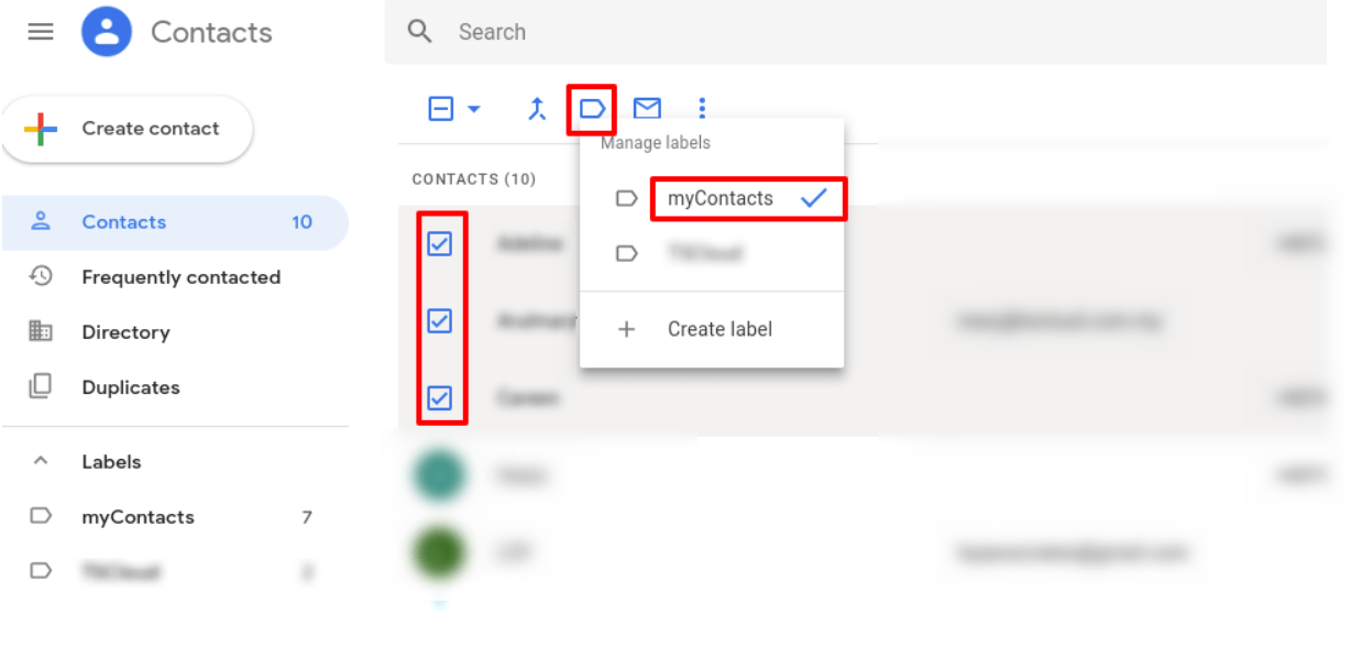 Add the contact into group that you have created.