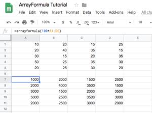 arrayformula times 100