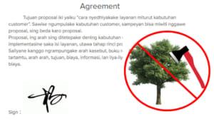 Be environmental friendly, start use electronic signature.