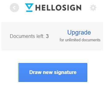 Draw new signature in HelloSign