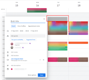 Working Hours of the other users shows in Calendar Grid.