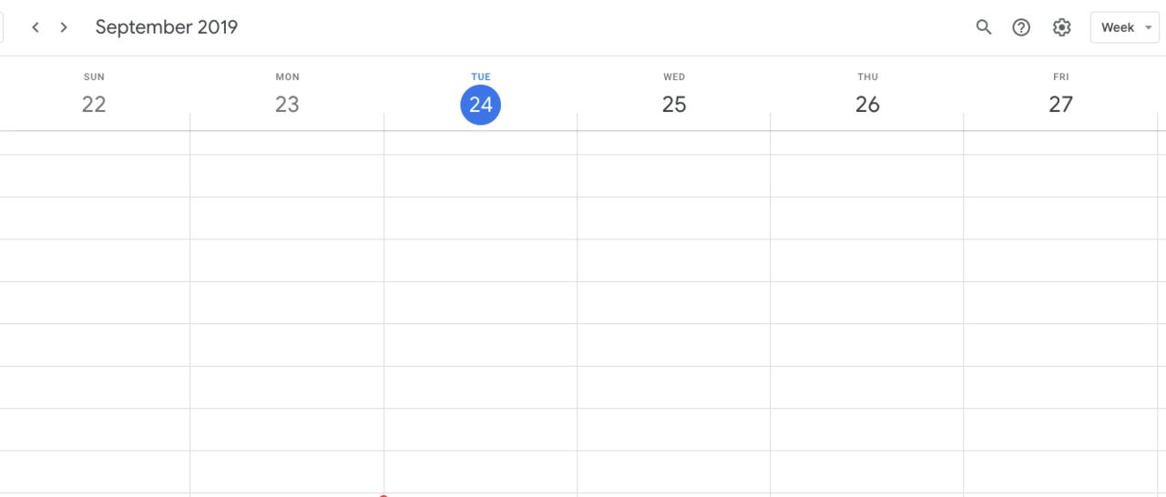 The Google Calendar interface.
