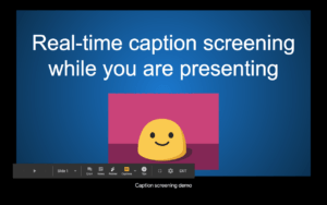 Google Slides Captions Screening Demo.