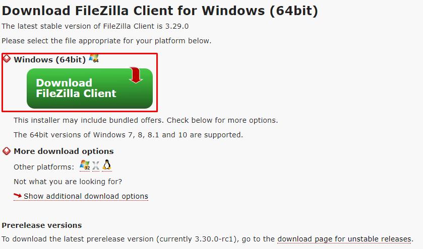 download filezilla foe windows