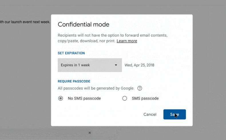 Gmail新版(下)加密郵件功能