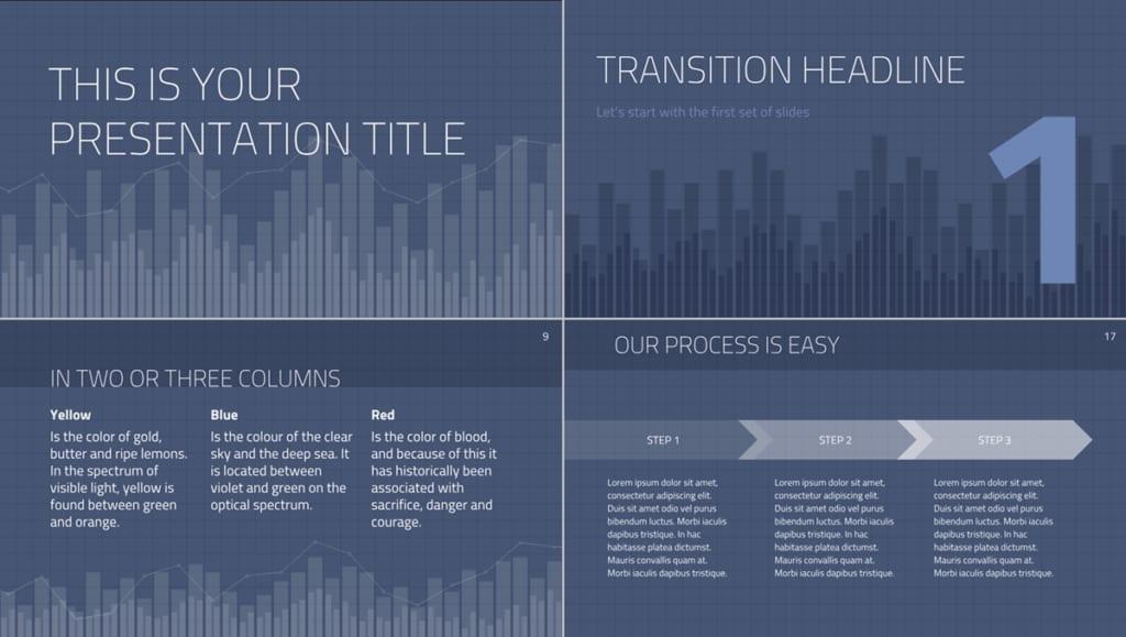 模板三Thaliard presentation template 簡報主題模板下載畫面