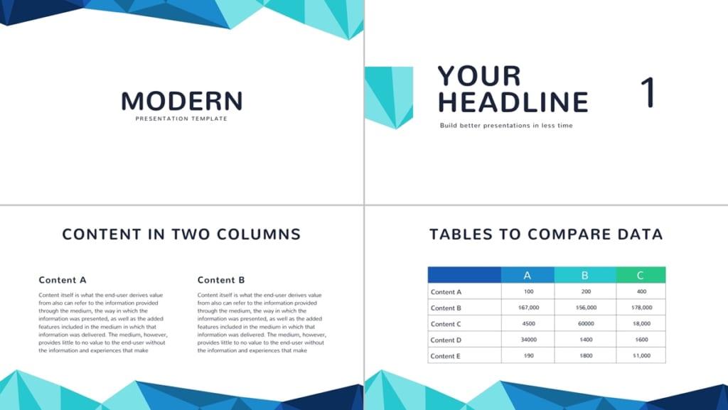 模板六Free Modern Google Slides Template簡報主題模板下載畫面