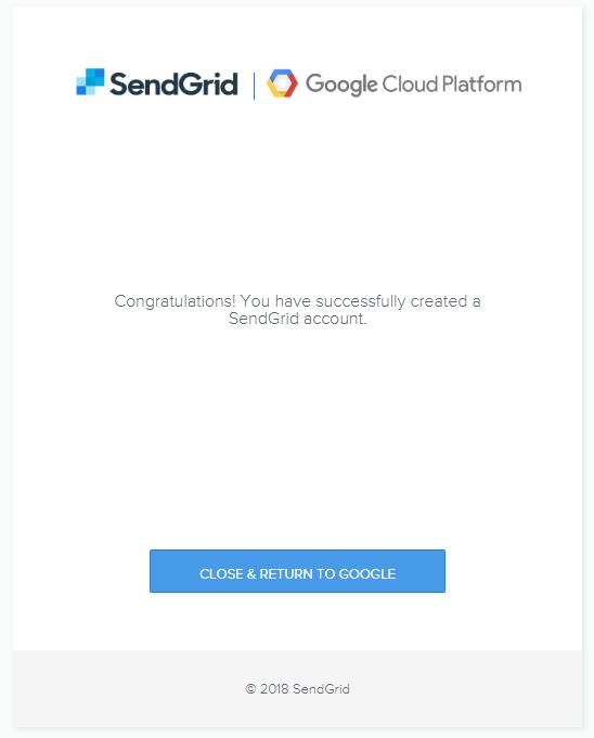 成功申請SendGrid帳號
