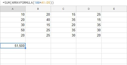 加總陣列計算結果的值