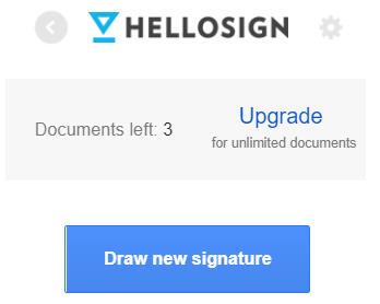 照片為建立新的簽名檔,點選Draw new signature的畫面