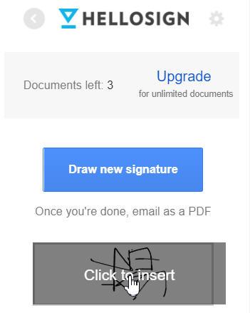 照片為選擇預計使用的電子簽名