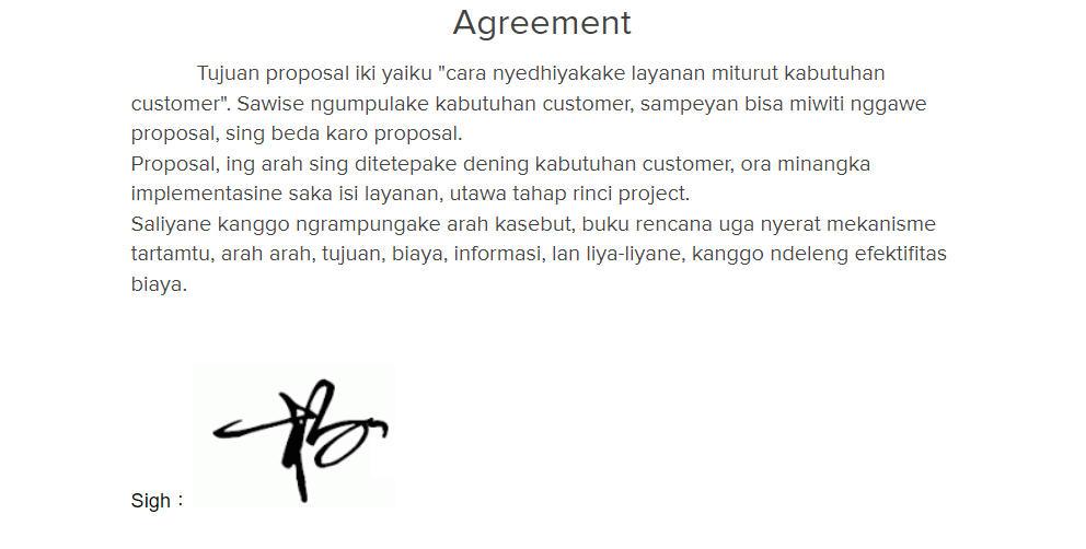 照片為在Google文件中完成電子簽名的樣子