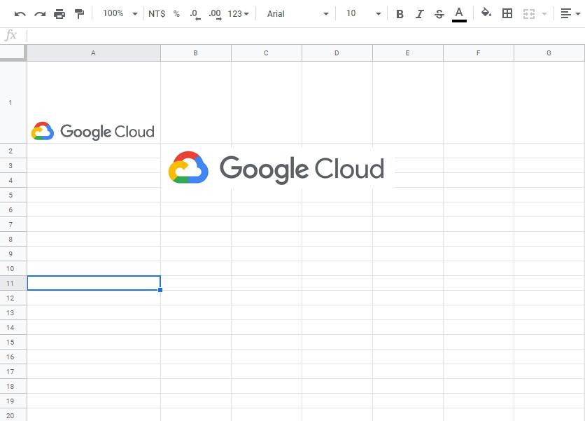 Google試算表儲存格中插入圖片與原先插入圖片功能的差異